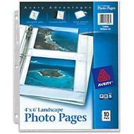 Avery Horizontal Photo Pages - 3-ring Binding - 3-Hole Punched