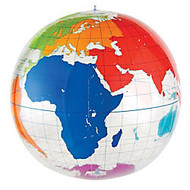 Learning Resources; Inflatable Labeling Globe, 27 inch; x 27 inch;