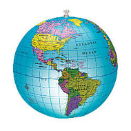 Learning Resources; Inflatable Light-Up Globe, 12 inch; x 12 inch;, Blue