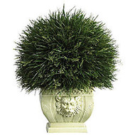 Nearly Natural 16 1/2 inch; Plastic Potted Grass With Vase