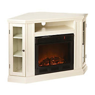 SEI Claremont Electric Fireplace Media Console, 32 1/4 inch;H x 48 inch;W x 27 inch;D, Ivory