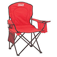 Coleman; Oversized Quad Chair with Cooler, Red