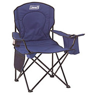 Coleman; Quad Chair with Cooler, Blue