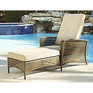 Cosco Lakewood Ranch Steel Chaise Lounge Chair, Brown