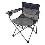 Stansport Apex Oversized High Back Arm Chair, Navy/Gray