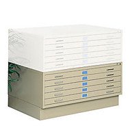 Safco; Closed Base, For 40 3/8 inch;W 5-Drawer Flat File