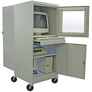 Atlantic Metal Industries Mobile Computer Security Cabinet, Putty