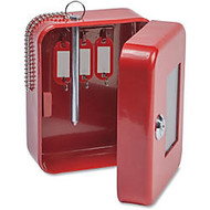 FireKing EK0506 Steel Emergency Key Safe - Key Lock - for Key - Red - Plastic, Steel