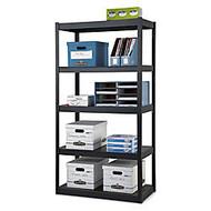 Edsal Heavy-Duty Steel Shelving, 5 Shelves, 72 inch;H x 36 inch;W x 18 inch;D, Black