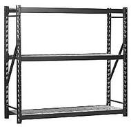 Edsal Heavy-Duty Welded Storage Rack, 72 inch;H x 72 inch;W x 24 inch;D, Black