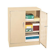 Alera Economy Storage Cabinet, 3 Fixed Shelves, 42 inch;H x 36 inch;W x 18 inch;D, Putty