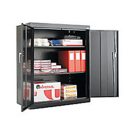 Alera Steel Storage Cabinet, 3 Adjustable Shelves, 42 inch;H x 36 inch;W x 18 inch;D, Black