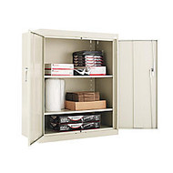 Alera Steel Storage Cabinet, 3 Adjustable Shelves, 42 inch;H x 36 inch;W x 18 inch;D, Putty