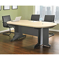 Altra Pro Collection Race Track Conference Table, 29 inch;H x 85 1/2 inch;W x 39 1/16 inch;D, Maple