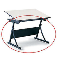 Safco; Planmaster Drafting Table Base, 27 3/4 inch;-35 1/2 inch;H x 42 7/8 inch;W x 29 1/2 inch;D, Black