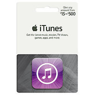 iTunes $15 - $500 Gift Card, Itunes Icon, Amount Choice