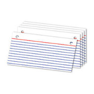 Office Wagon; Brand Binder Refill Index Cards, 3 inch; x 5 inch;, White, Pack Of 50
