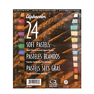 Alphacolor Soft Pastels, 7/16 inch; x 2 3/4 inch;, Assorted, Set Of 24