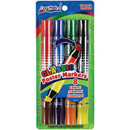 ArtSkills; Double-Sided Markers, Assorted Colors, Pack Of 4
