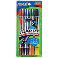 ArtSkills; Double-Sided Permanent Markers, Assorted Colors, Pack Of 4