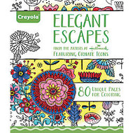 Crayola; Aged Up Coloring Book For Adults, Elegant Escapes, 8 inch; x 10 inch;, 80 Pages
