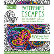 Crayola; Aged Up Coloring Book For Adults, Patterned Escapes, 8 inch; x 10 inch;, 80 Pages