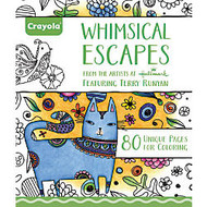 Crayola; Aged Up Coloring Book For Adults, Whimsical Escapes, 8 inch; x 10 inch;, 80 Pages