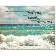 Advantus Believe Motivational Canvas Print - 28 inch; Width x 22 inch; Height - Assorted