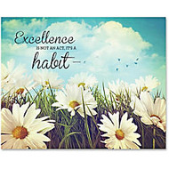 Advantus Excellence Motivational Canvas Print - 28 inch; Width x 22 inch; Height - Assorted