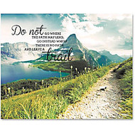 Advantus Leave A Trail Motivational Canvas Print - 28 inch; Width x 22 inch; Height - Assorted
