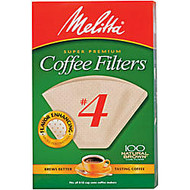 Melitta Coffee Filters, Cone, No. 4, Pack Of 100