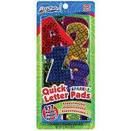 ArtSkills; 100% Recycled Quick Letters, 2 inch;, Assorted Holographic Colors, Pack Of 216