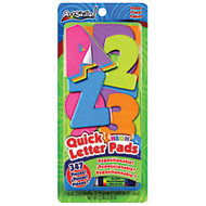 ArtSkills; 100% Recycled Quick Letters, 2 inch;, Assorted Neon Colors, Pack Of 310