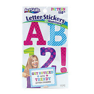 ArtSkills; Alpha Letter/Number Stickers, 2 1/2 inch;, Assorted Colors, Pack Of 110