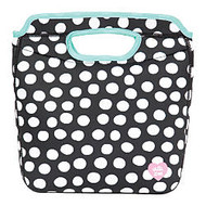 Arctic Zone Zaza Tote, 9 11/16 inch; x 11 7/16 inch; x 5 1/4 inch;, Black And White Dots