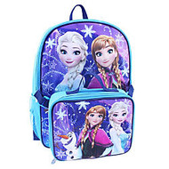 Backpack With Lunch Kit, Disney Girls' Frozen, Pink/Purple