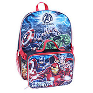 Backpack With Lunch Kit, Marvel Boys' Avengers, Black/Red