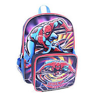 Backpack With Lunch Kit, Marvel Boys' Spider-Man, Black/Red
