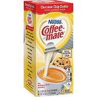 Coffee-Mate Chocolate Chip Cookie Creamers - Chocolate Flavor Mini Cup - 50/Box - 1 Serving