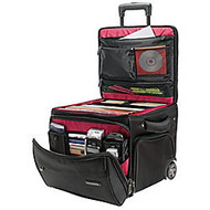 Ativa™ Mobil-IT Rolling Briefcase Ultimate Workmate, 14 inch;H x 14.25 inch;W x 14.25 inch;D, Black
