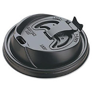 Dart Black Plastic Reclosable Lids, For 12-16 Oz. Cups, Black, Box Of 1,000