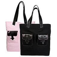 Day-Timer; Pink Ribbon Reversible Pink And Black Tote, 15 inch; x 13 inch; x 6 inch;