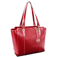 McKleinUSA; M Series ALICIA Leather Shoulder Tote, 14 inch;H x 6 inch;W x 13 inch;D, Red