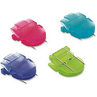 Advantus Brightly Colored Panel Wall Clip - Jumbo - 60 Sheet Capacity - 10 Pack - Assorted - Plastic