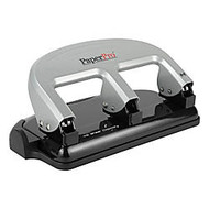 Accentra Traditional 3-Hole Punch, 40 Sheet Capacity, 30% Recycled, Black/Silver