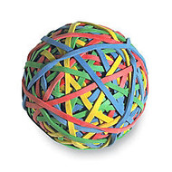 ACCO 275 Rubber Band Ball, Assorted Colors