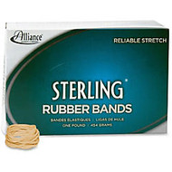Alliance Sterling Rubber Bands, #12 - Size: #12 - 1.75 inch; Length x 60 mil Width - 30 mil Thickness - 13lb/in - 3400 / Box - Rubber - Crepe