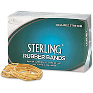 Alliance Sterling Rubber Bands, #18 - Size: #18 - 3 inch; Length x 60 mil Width - 30 mil Thickness - 13lb/in - 1 Box - Rubber - Natural Crepe