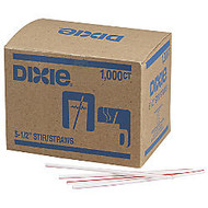 Dixie; Stir Sticks, White/Red, Box Of 1,000