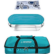 Anchor 3 Qt. Essentials Bake 'N' Take Teal Tote